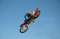 Biker. In the air Royalty Free Stock Images