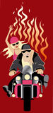 Biker. Cartoon biker vector illustration design Stock Image