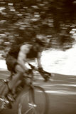 Biker. In a race Royalty Free Stock Photography