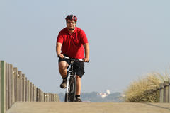 Biker in action Royalty Free Stock Photography
