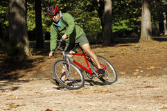 Biker in action Stock Image