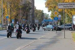 Biker autumn Royalty Free Stock Photography