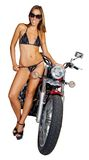 Biker babe Royalty Free Stock Photo