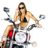 Biker babe Stock Photos