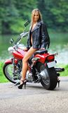 biker babe Royalty Free Stock Images