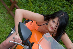 Biker Babe Royalty Free Stock Photos