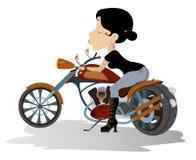 Biker babe illustration Stock Photos