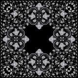 Biker  bandana black and white. Vector print square. Stock Photography