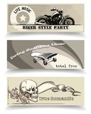 Biker banners Stock Images