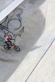 Biker on bicycle Stock Photo