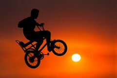 Biker, Biker, Bicycle, Sunrise, Sunset, Riding, Rider