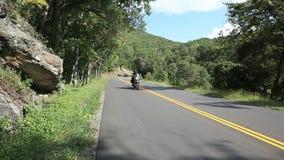 Biker Blue Ridge Parkway stock video