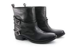 Biker boots Royalty Free Stock Images