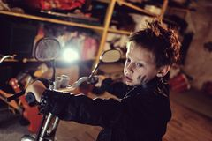 Biker boy Stock Photography