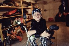 Biker boy Royalty Free Stock Photo
