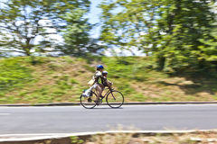 Biker in central Park Stock Photography