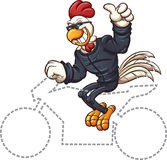 Biker chicken Stock Photo