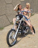 Biker chicks Royalty Free Stock Photos