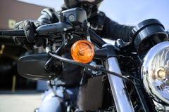 Biker closeup Stock Image