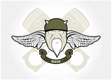 Biker club label. In  style Royalty Free Stock Photos