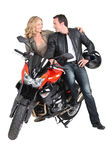 Biker couple Stock Images