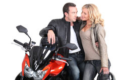 Biker couple Royalty Free Stock Photo