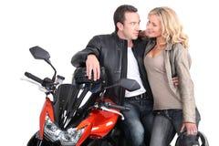 Biker couple Royalty Free Stock Photo