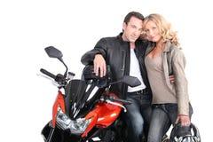 Biker couple royalty free stock image