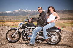 Biker Couple Stock Images