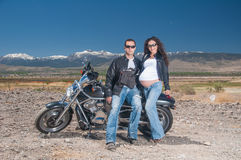 Biker Couple Royalty Free Stock Images