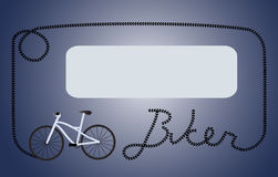 Biker dark blue frame Stock Images