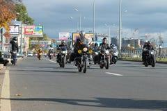 Biker fall Royalty Free Stock Image