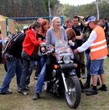 The biker-fest 2012. Annual festival of  bikers.Ukraine Royalty Free Stock Photos