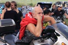 The biker-fest 2012. Annual festival of bikers.Ukraine Royalty Free Stock Photo