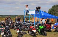 The biker-fest. Annual september festival of bikers.Ukraine Stock Photos