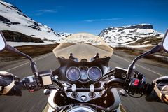 Biker First-person view Stock Image