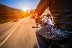 Biker First-person view royalty free stock photography