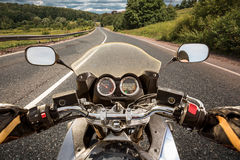 Biker First-person view Royalty Free Stock Photos