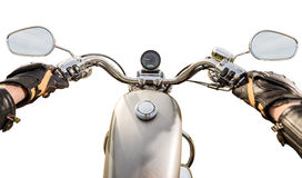 Biker First-person view isolated Royalty Free Stock Images