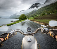 Biker First-person view Stock Images