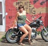 Biker gal. Stock Photography