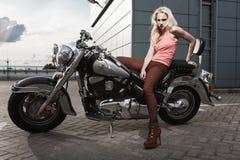 Biker girl Royalty Free Stock Image