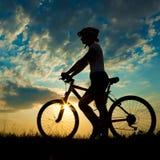 Biker-girl royalty free stock photo