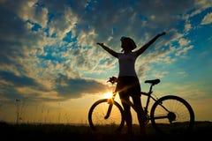 Biker-girl royalty free stock photography