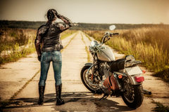 Free Biker Girl Royalty Free Stock Photo - 27757775