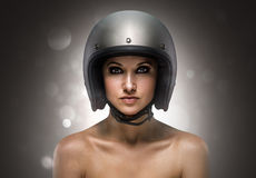 Biker Girl fashion Royalty Free Stock Image