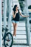 Biker girl Royalty Free Stock Photography