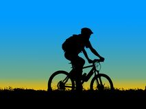 Biker girl silhouette Stock Photos