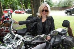 Biker girl Royalty Free Stock Photo