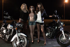 Biker girls Stock Photography